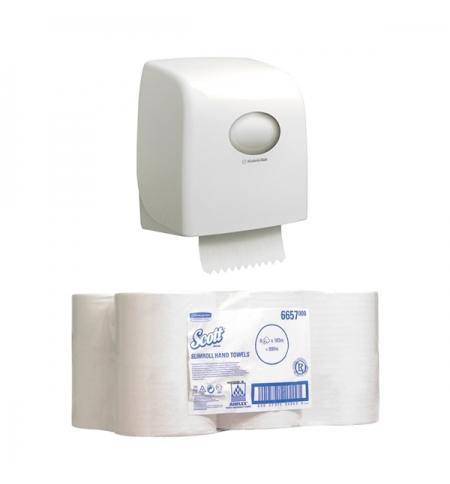 фото: Диспенсер для полотенец в рулонах Kimberly-Clark Aquarius/ Scott, 6953 (1шт), +полотенца в рулонах,