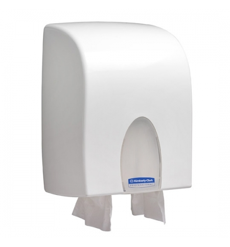 фото: Диспенсер для полотенец листовых Kimberly-Clark Aqua Windows Dual 9962, белый