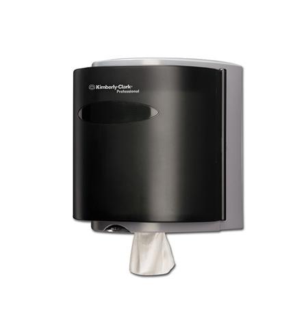 фото: Диспенсер для протирочных материалов в рулонах Kimberly-Clark Industry 7928, черный, 26х31х24см