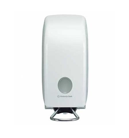 фото: Диспенсер для мыла в картриджах Kimberly-Clark Aquarius 6955, с локтевым приводом, белый, 1л
