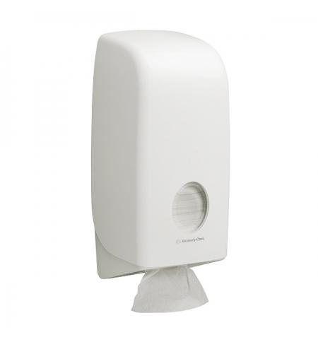 фото: Диспенсер для туалетной бумаги листовой Kimberly-Clark Aquarius 6946, белый