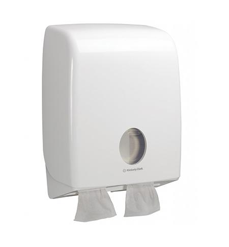 фото: Диспенсер для туалетной бумаги листовой Kimberly-Clark Aquarius 6990, белый