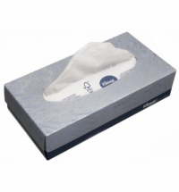 Косметические салфетки Kimberly-Clark Kleenex 100шт, 21.5х18.6см, 2 слоя, белые