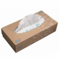 Косметические салфетки Kimberly-Clark Scott 100шт, 19х22см, 2 слоя, белые