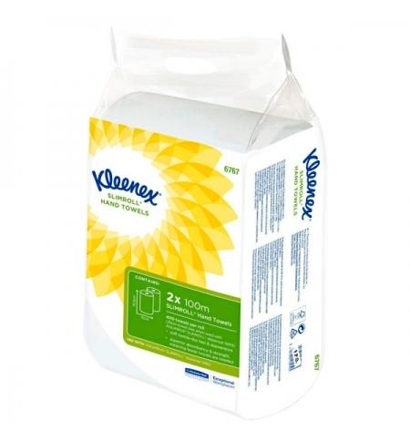 фото: Бумажные полотенца Kimberly-Clark Kleenex 6767, в рулоне, 2шт, 1 слой, белые