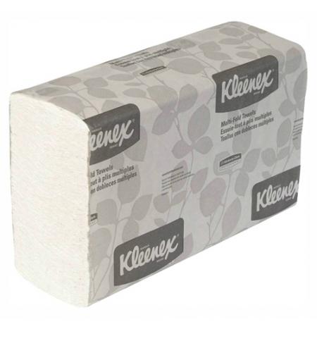 фото: Кимберли-Кларк полотенца бумажные в листах Kleenex MultiFold 1890 однослойные, 150шт, белые