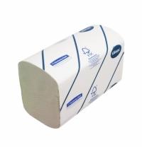 фото: Бумажные полотенца Kimberly-Clark для диспенсеров Kleenex Ultra 6777, листовые, 2 слойные, 124шт, бе