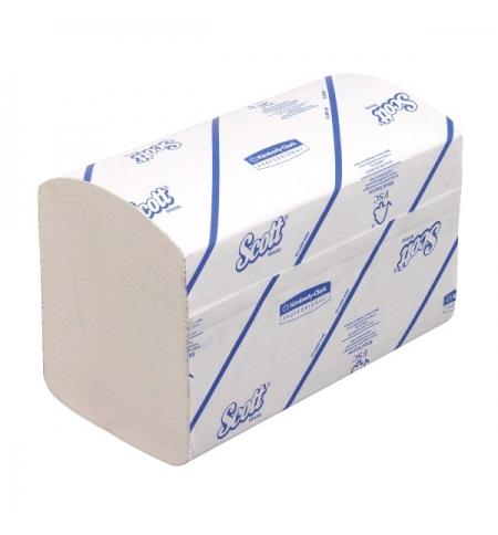 фото: Бумажные полотенца Кимберли-Кларк 6677 Scott Extra листовые, однослойные, 320шт, белые