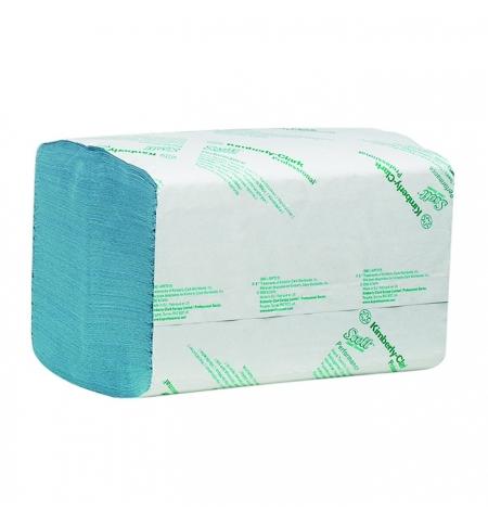фото: Бумажные полотенца Kimberly-Clark Scott Extra 6682, листовые, 240шт, 1 слой, голубые