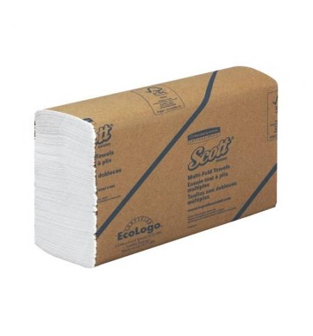 фото: Бумажные полотенца листовые Kimberly-Clark Scott MultiFold 3749, листовые, 250шт, 1 слой, белые