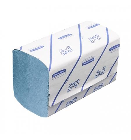 фото: Бумажные полотенца Скотт Кимберли-Кларк Perfomance 6664, листовые, 212шт, 1 слой, голубые