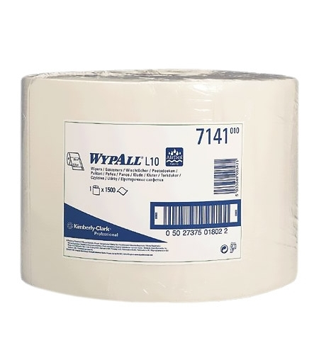 фото: Протирочные салфетки Kimberly-Clark WypAll L10 7141, 1500шт, 1 слой, белые