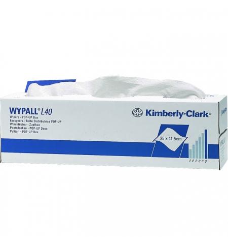 фото: Протирочные салфетки Kimberly-Clark WypAll L40 7461, листовые, 100шт, 1 слой, белые