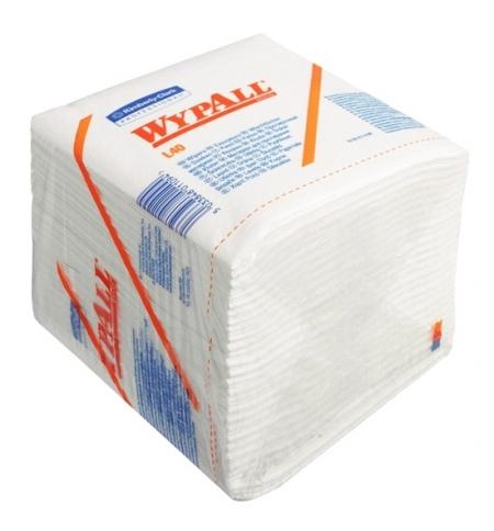 фото: Протирочные салфетки Kimberly-Clark WypAll L40 7471, листовые, 56шт, 1 слой, белые