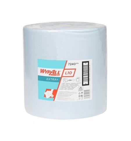 фото: Протирочный материал Kimberly-Clark WypAll L10, 7240, общего назначения, в рулоне, 380м, 1 слой, син