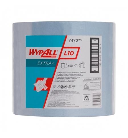 фото: Протирочный материал Kimberly-Clark WypAll L10, 7472, общего назначения, в рулоне, 380м, 1 слой, син