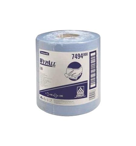фото: Протирочный материал Kimberly-Clark WypAll L10, 7494, для легких загрязнений, в рулоне с центральной