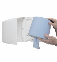 фото: Протирочный материал Kimberly-Clark Kimtech 7643, для подготовки поверхностей, в рулоне, 190м, 1 слой, синий