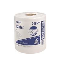 фото: Протирочный материал Kimberly-Clark WypAll X70 8384, высокая впитываемость, в рулоне, 190м, 1 слой, белый