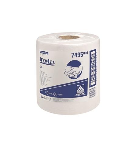 фото: Протирочный материал Kimberly-Clark WypAll L10, 7495, для легких загрязнений, в рулоне с центральной