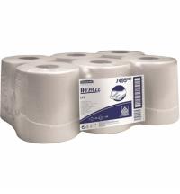 Протирочный материал Kimberly-Clark WypAll X50 8356, высокая впитываемость, в рулоне, 374м, 1 слой, белый