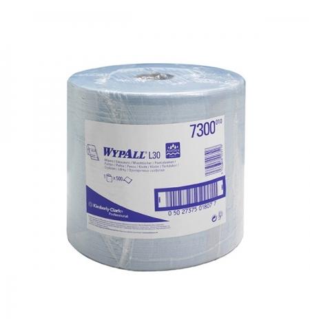 фото: Протирочный материал Kimberly-Clark WypAll L20, 7300, для сильных загрязнений, в рулоне, 190м, 2 сло