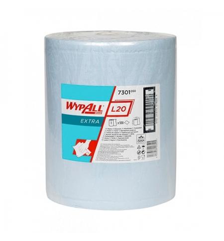 фото: Протирочный материал Kimberly-Clark WypAll L20, 7301, для сильных загрязнений, в рулоне, 190м, 2 сло