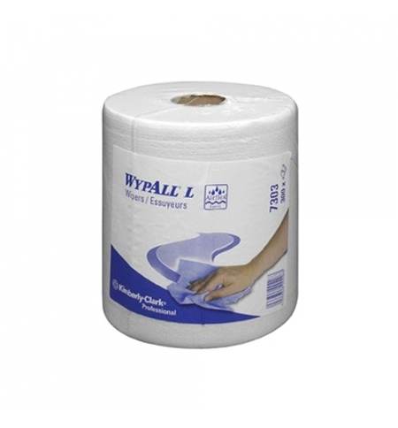 фото: Протирочный материал Kimberly-Clark WypAll L20, 7303, для сильных загрязнений, в рулоне, 125м, 2 сло