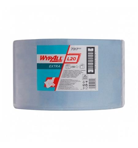 фото: Протирочный материал Kimberly-Clark WypAll L20, 7317, для сильных загрязнений, в рулоне, 380м, 2 сло
