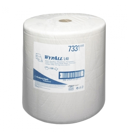 фото: Протирочный материал Kimberly-Clark WypAll L40, 7331, для сильных загрязнений, в рулоне, 380м, 3 сло