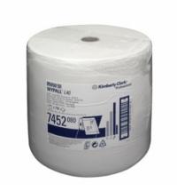 Протирочный материал Kimberly-Clark WypAll L40, 7452, высокая впитываемость, в рулоне, 255м, 1 слой,