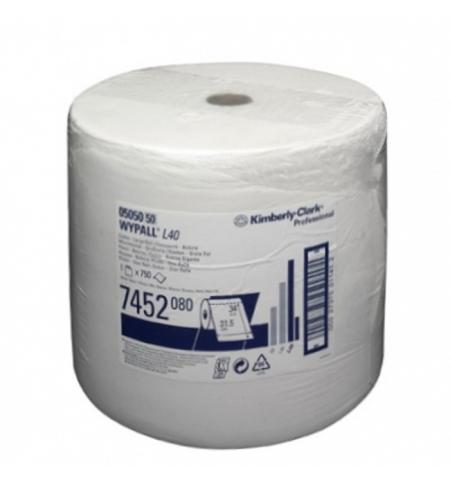 фото: Протирочный материал Kimberly-Clark WypAll L40, 7452, высокая впитываемость, в рулоне, 255м, 1 слой,