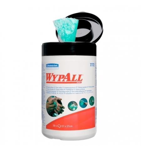 фото: Протирочный материал Kimberly-Clark WypAll, 7772, в рулоне с центральной вытяжкой, в тубе, 50 листов