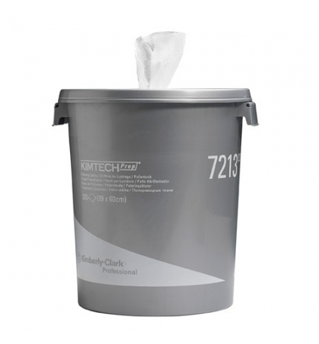 фото: Ведро-диспенсер для протирочных салфеток Kimberly-Clark Kimtech 7213, 300шт, 1 слой, белый