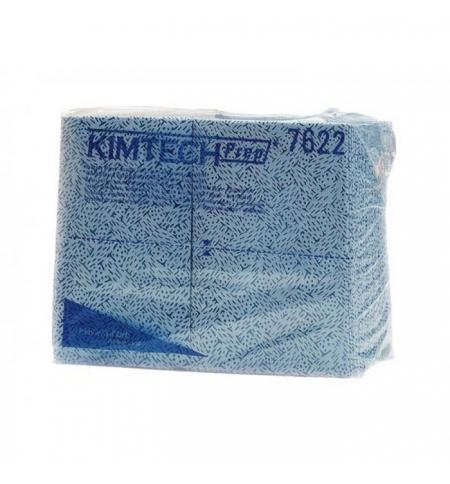 фото: Протирочные салфетки Kimberly-Clark Kimtech 7622, листовые, 35шт, 1 слой, синие