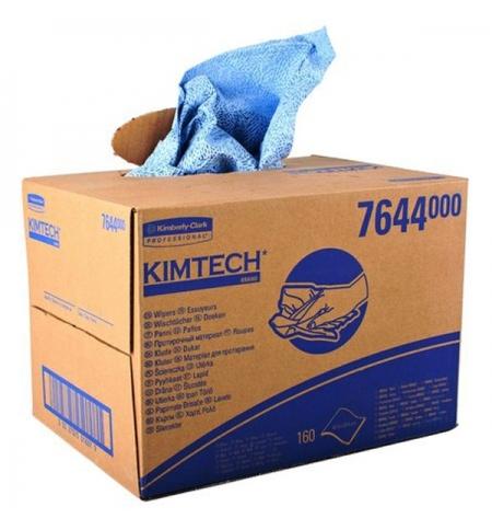 фото: Протирочные салфетки Kimberly-Clark Kimtech 7644, листовые, 160шт, 1 слой, синие
