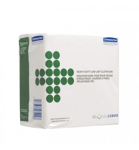 фото: Протирочные салфетки Kimberly-Clark Wettask 38668, листовые, 60шт, 1 слой, белые