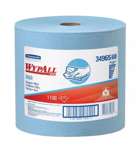 фото: Протирочные салфетки Kimberly-Clark WypAll X60 34965, синие, 1100шт, 1 слой