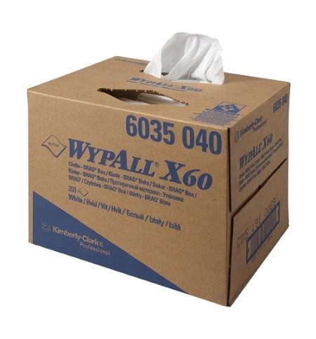 фото: Протирочные салфетки Kimberly-Clark WypAll X60 6035, белые, 200 листов, 1 слой, 31.7 х 42.6см