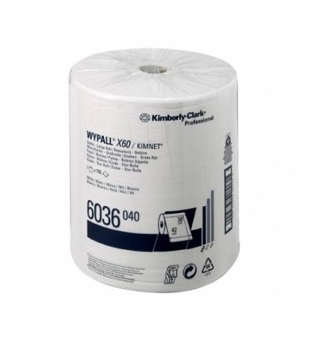 фото: Протирочные салфетки Kimberly-Clark WypAll X60 6036, 750шт, 1 слой, белые