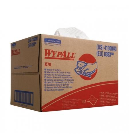 фото: Протирочные салфетки Kimberly-Clark WypAll X70 8383, листовые, 152шт, 1 слой, белые
