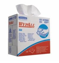 Протирочные салфетки Kimberly-Clark WypAll Х60 8376, листовые, 126шт, 1 слой, белые