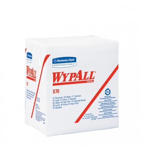 фото: Протирочные салфетки Kimberly-Clark WypAll Х70 8387, листовые, 76шт, 1 слой, белые