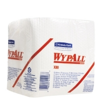 Протирочные салфетки Kimberly-Clark WypAll Х80 8388, листовые, 50шт, 1 слой, белые