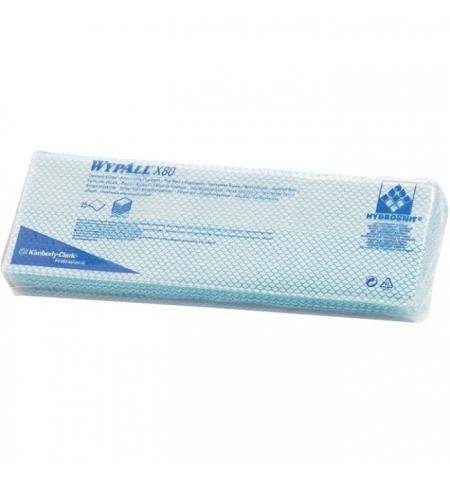 фото: Протирочные салфетки Kimberly-Clark WypAll Х80 7565, листовые, 25шт, 1 слой, синие