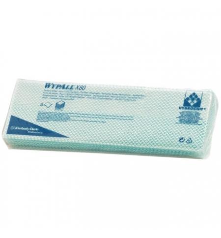 фото: Протирочные салфетки Kimberly-Clark WypAll Х80 7566, листовые, 25шт, 1 слой, зеленые
