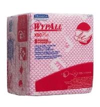 Протирочные салфетки Kimberly-Clark WypAll Х80 Plus 19127, листовые, 30шт, красные