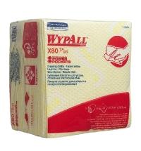 Протирочные салфетки Kimberly-Clark WypAll Х80 Plus 19164, листовые, 30шт, желтые