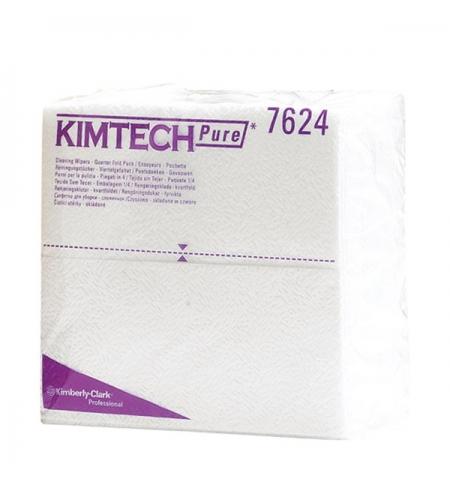 фото: Протирочные салфетки Kimberly-Clark Kimtech Pure 7624, листовые, 35шт, 1 слой, белые