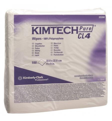 фото: Протирочные салфетки Kimberly-Clark Kimtech Pure CL4 7646, листовые, 100шт, белые